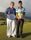 Lynne Behagg and Tyron Davidowitz (2017 Club Champions)