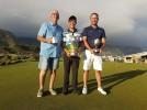 Tinus van Niekerk (C Division Winner), Tyron Davidowitz (Club Champion) and John Quincey (B Division Winner)