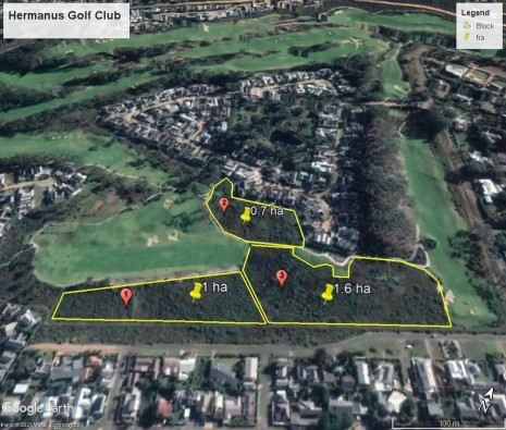Hermanus Golf Club Prescribed Burn Map