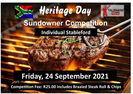Heritage Day Sundowner